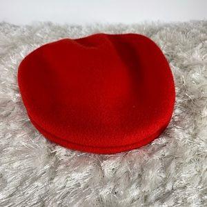 Kangol Wool Red Cap Newsboy Sz Small